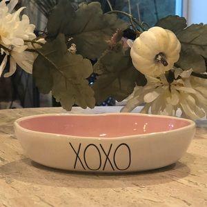 "Rae Dunn ""XOXO"" small pet bowl cat dog candy"